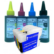 Brother Compatible LC970 Refillable Cartridges with 400ml Archival Ink.