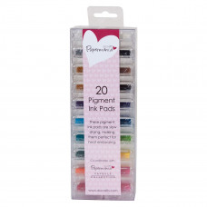Artiste - Mini Mini Ink Pads Pigment (20pk) - Assorted Colours.