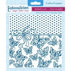 Embossalicious 6 x 6'' Embossing Folder - Butterfly Love.