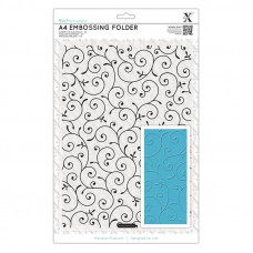 Xcut A4 Embossing Folder - Delicate Flourishes.