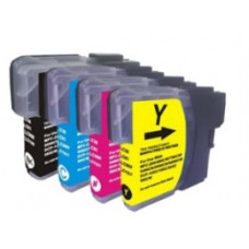 Brother Compatible LC980/985/1100 Cartridge Set - CMYK.