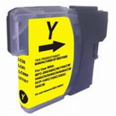 Brother Compatible LC980/985/1100 Cartridge Yellow.
