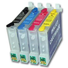 Epson Compatible T0555 Empty Refillable Cartridge Set.