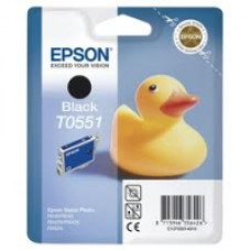 Epson Branded T0551 Black Ink Cartridge.