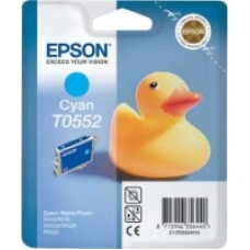 Epson Branded T0552 Cyan Ink Cartridge.