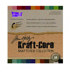 Core'dinations cardstock - Tim Holtz Kraft-Core Shattered Collection 12 x 12 in a 24 pack