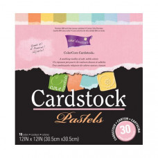 Coredinations Cardstock - Core Essentials - 12x12 Pastels in 30 sheet pack