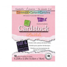 Coredinations Cardstock - Core Essentials -  4.25 x 5.5 Pastels - 40 sheets
