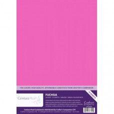 Centura Pearl, 10 Sheets of Fushia Single Side 300gsm Printable A4 Card