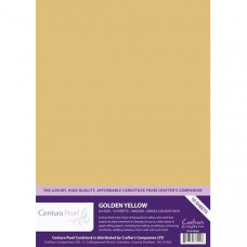 Centura Pearl, 10 Sheets of Golden Yellow Single Side 300gsm Printable A4 Card