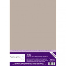 Centura Pearl, 10 Sheets of Mink Single Side 300gsm Printable A4 Card