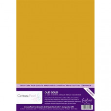 Centura Pearl, 10 Sheets of Old Gold Single Side 300gsm Printable A4 Card