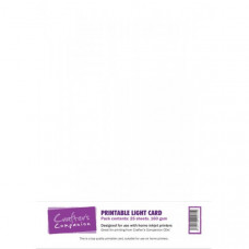 Printable Light 160gsm Card in a 25 sheet pack by Crafter's Companion