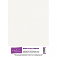 Printable 100gsm Vellum Paper in a 15 sheet pack by Crafter's Companion