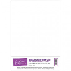 Neenah Classic Crest 20 sheet Card Pack in Solar White by Crafter's Companion