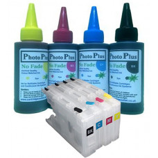 Brother Compatible LC1240 Refillable Cartridges with 400ml of Archival Ink.