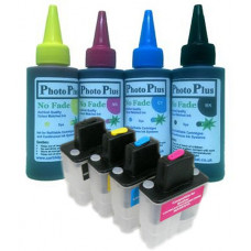 Brother Compatible LC900 Refillable Cartridges with 400ml of Archival Ink.