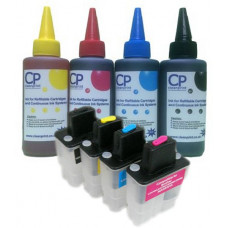 Brother Compatible LC900 Refillable Cartridges with 400ml of Ink.